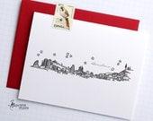 Barcelona, Spain - Europe - City Skyline Series - Folded Cards (6)