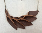 Petal Collection- Brown Leather Petals Necklace