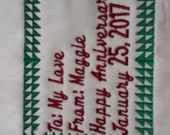 Half Triangle Machine Embroidered Quilt Label Personalized