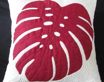 Monstera Leaf Pillow