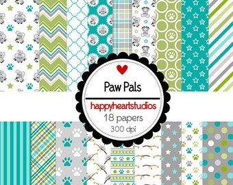 Digital Scrapbook  PawPals-INSTANT DOWNLOAD