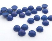 12 Pieces Natural Howlite Dyed Lapis Cabochons-8mm (08HLAP)(B-5-25)
