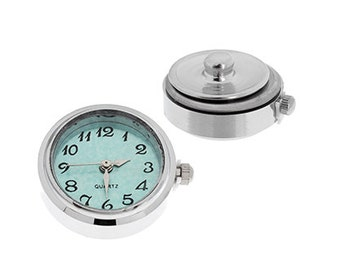 One Piece Interchangable Watch Face Snaps - Turquoise 18mm