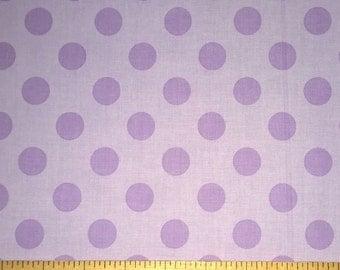 FAT QUARTER-Medium Dots Cotton Fabric by Riley Blake Fabrics C430-120 Lavender