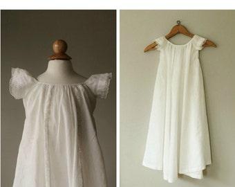 ON SALE 1920s Batiste Baptism Dress~Size 6 months