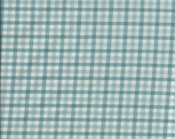 "PENDLETON Blue & White Check Plaid Wool Shirting Fabric. 60"" wide. 1 Yard."