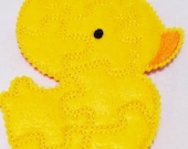 SALE Yellow Chick Felt Puzzle game - Perfect for party favors - school treats - busy bags or quiet books - learning game - quantity discount