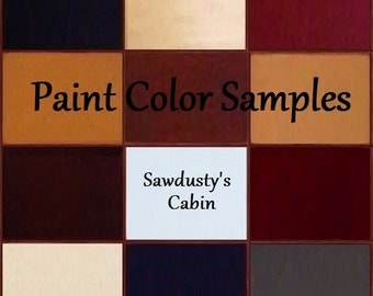 3 Color Samples Real Wood Paint Samples Hand Made for Viewing in your Home by Sawdusty's Cabin
