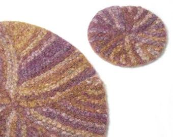 Pinwheel Felt Place mat knitting Pattern pdf