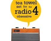 BBC Radio 4 Tea Towel Gift Set Two The Archers Shipping Forecast British UK
