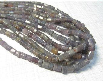 25% Off SALE Rare Natural Purple Pink Sapphire Beads, Fancy Hexagon Barrel Rondelle Beads, 5mm Sapphires