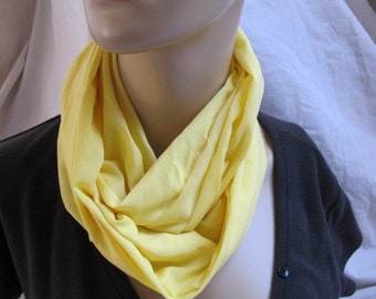 SALE - Lemon Yellow Cowl/Circle Scarf/Infinity Scarf (5388)