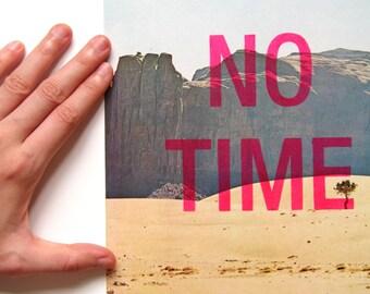 NO TIME (desert) - stencilled vintage clipping