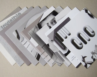 GREY - set of 10 magazine-recycled CD/DVD cases