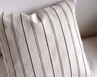 CASUAL CHIC Black stripes Pillow Cover 18x18 20x20 22x22 24x24 26x26