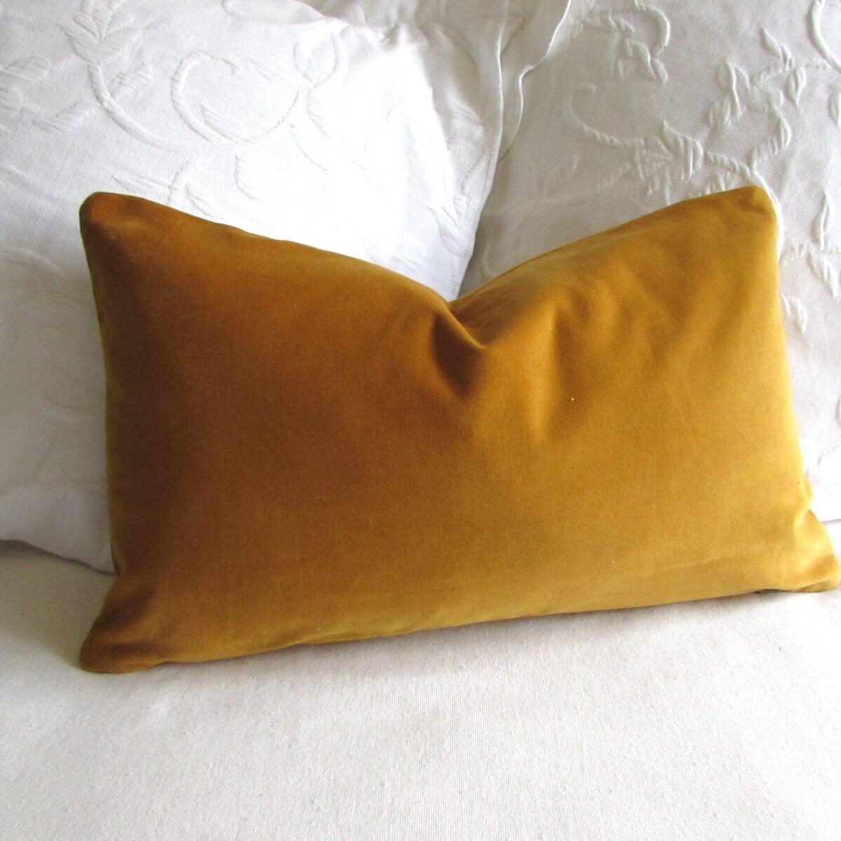 Antique Gold Decorative Pillows : VELVET decorative Pillow 12x20 includes insert antique gold
