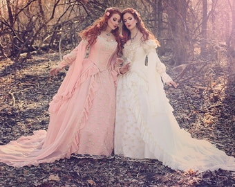 Rose Pink Sleeping Beauty Princess Medieval Fantasy Gown Custom Color and Size