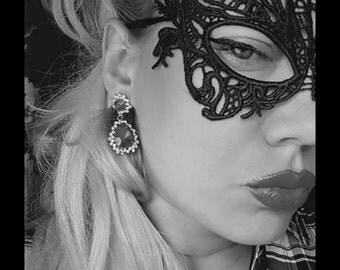 Beautiful Masquerade Mask lace Embroidery Cutout Veil