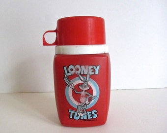 Vintage 1970s Looney Toons Thermos Container kids SALE