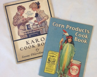 Two Vintage Karo Syrup Cookbooks From the Early 1900's