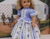 Spring Pansies - Civil War or Prairie dress for American Girl doll