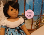 Chilly Willy - vintage style dress for American Girl doll **Sale**