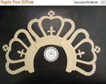 50% Vac. Sale Crown - Chipboard Large French Style Majestic Royal Crown, no.78 Die Cuts Set of 3 Chipboard Crown by Annie42 - AR Creations o