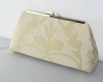 CLEARANCE SALE - Ready to Ship - Modern Clutch - Champagne Ivory Clutch