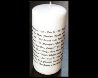 Gift, Trending Now, Candle imprinted with your unique special inside jokes, Gift for Him, Gift for Her,Personalized Candle,Mom,BFF