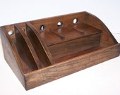 Charging Station / Docking Station with slots for iPad, Kindle, Tablet,  iPhone, cell phone Handcrafted in Cherry with attached power strip