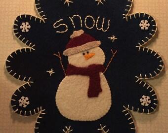 Snowman Penny Rug