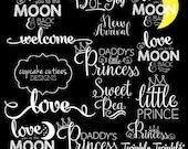 Baby Love- Newborn Child Digital Photographer Word Art Overlays- Instant DOWNLOAD