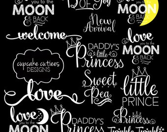 Baby Love- Newborn Child Digital Photographer Word Art Overlays- Instant DOWNLOAD