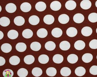 1 yard Coffee Brown Dots  Knit