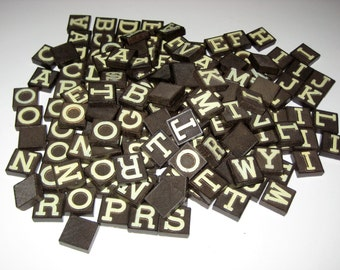 Vintage (1940s) Anagrams - 179  Letter Tiles for Playing or Crafting