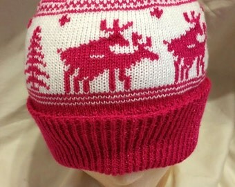 Sparkle Pink Naughty Moose Hat