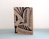 Black Bird Journal, Small Gift for Girlfriends, Valentine's Gift for Her, White Eco Recycled Notebook, Art Journal Sketchbook