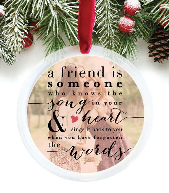 Best Friend Ornament Best Friend Christmas Gift by PaperRamma