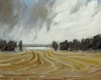 Headed Our Way | Original Painting Oil Painting Landscape Painting | 9 x 12
