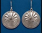 Man in the Maze - Earrings- Sterling Silver