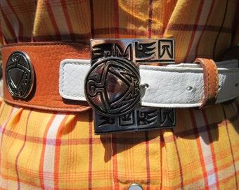 Vintage Belt Ginnie Johansen Southwestern Style Faux Leather Size 24M
