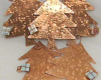 Tree Ornaments. Set of 5. Copper Tree Ornaments. Wholesale priced.