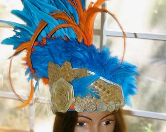 Tahitian Sky : A 3 Way Headdress for All Polynesian Ballet ~ HAS BEEN SOLD
