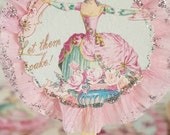12- Marie Antoinette Fancy & Frilly Cupcake Toppers
