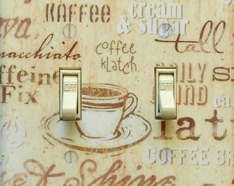 MATCHING SCREWS on 4 CHOICES- Coffee & Kitchen themed switchplates Kitchen light switch cover coffee switch plate retro kitchen wall decor