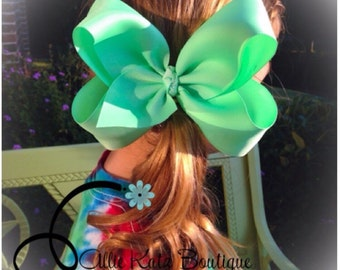 "Hair bow basic boutique single layer 4.5"" or 6"""