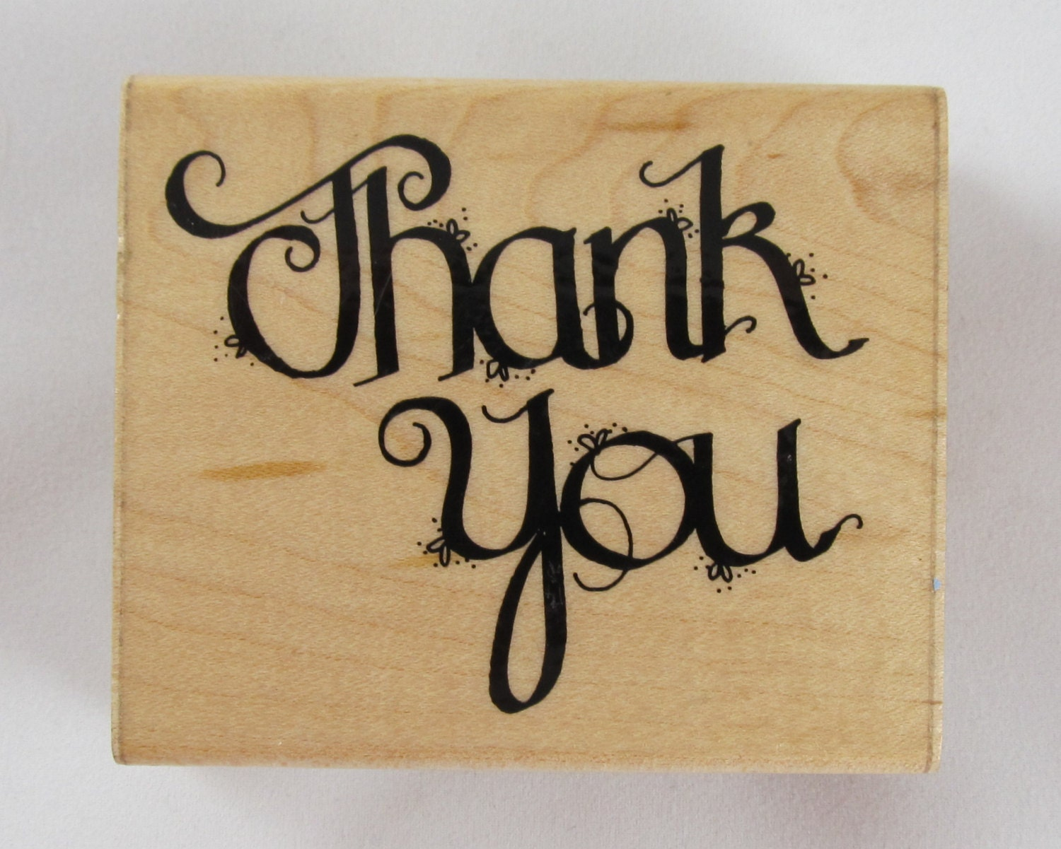 Jrl design thank you calligraphy rubber stamp rs