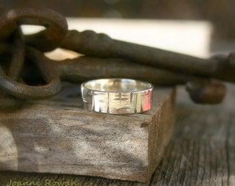Birch Bark Ring... Wedding Band, Promise Ring, Hand Fasting