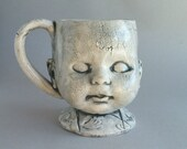 Doll Head Mug - coffee cup, coffee mug, doll head mug