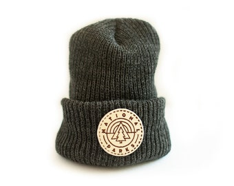 PRE ORDER - Dark Gray beanie with National Park Patch